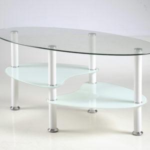 Ballet sohvapöytä valkoinen/kirkas
